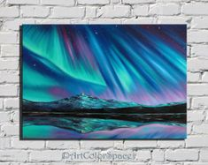 Milky Way Mini painting Gift idea for him Oil by ArtColorSpace
