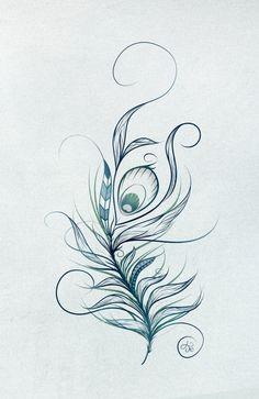 boho feather feathers bohemian peacock loujah illustration Illustration #art…