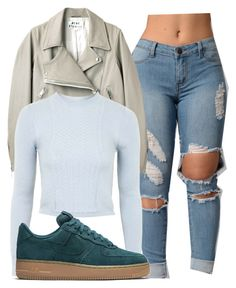 """Untitled #1379"" by shyannelove123 ❤ liked on Polyvore featuring Acne Studios, Topshop and NIKE"