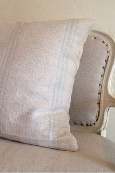 26 French Grain Sack Inspired Pillow cover by Caswellandcompany, $42.00