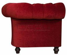 czerwona sofa chesterfield, red chesterfield, pluszowa sofachesterfield, velvet chesterfield, styl angielski, armchair   karmazyn, ceglana, perpur , red, sofa chesterfield, fotel_chesterfield_lady_rem_IMG_3806.jpg (732×600)