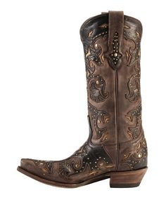 Lucchese Boots - Handcrafted 1883 Studded Scarlett Cowgirl Boots - Snip Toe