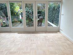 Parkay Flooring, Parquet Flooring, Hardwood Floors, White Washed Floors, Wet Bar Basement, Swedish Design, Home Reno, Conservatory, Home Remodeling