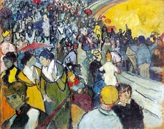 """gogh spectators in the arena at arles 1888 89 (from <a href=""""http://www.oldpainters.org/picture.php?/26310/category/10322""""></a>)"""