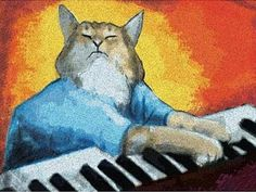 Keyboard Cat Poster-Comes framed, so it must be art!