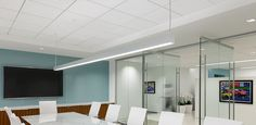 Oracle OLS-DI-LED 2' LED Architectural Direct/Indirect Suspended Linear Commercial Office Design, Retail Space, Downlights, Indoor, Architecture, Wall, Inspiration, Home Decor, Interior