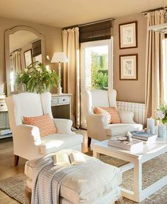 kcyang688: El mueble Formal Living Rooms, Home Living Room, Living Area, Living Room Furniture, Living Room Decor, Living Spaces, Sala Colonial, Poltrona Vintage, Paint Colors For Living Room