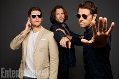 Jensen Ackles, Jared Padalecki, and Misha Collins (Supernatural)