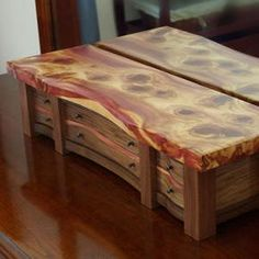 KRT Woodworking - Unique Jewelry Boxes. this would be a cool dresser