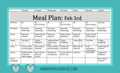 Meal Plan, Clean Eating, Recipes, weight loss, fast and easy meals, clean meals on a budget, $0, motivation, #wholebodyfitness, I love planning to succeed through meal plans and having a plan and schedule for the week to keep me on track and motivated!  www.melissavbeck.com