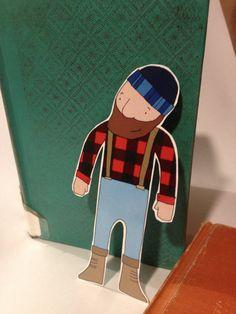 Lumberjack Bookmark: jjuravich Book Clubs, Book Club Books, Raccoons, Squirrels, Paul Bunyan, Sneak Attack, After School Club, Lumberjacks, Forest Friends