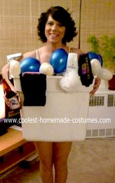 Homemade Girl In A Tub Costume This Homemade Girl In A