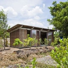 Prototype for super low-cost housing in Vietnam - prefab, locally sourced materials, easy and cheap to maintain.