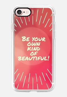 Casetify iPhone 7 Classic Grip Case - Be Your Own Kind of Beautiful by Edward Fielding #Casetify