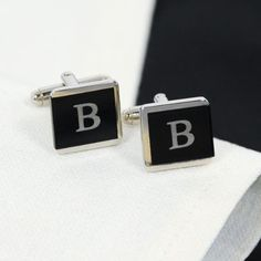 Personalized Two-Tone Tuxedo Cuff Links Men's Tuxedo Wedding, Wedding Men, Wedding Tuxedos, Gown Wedding, Wedding Groom, Wedding Suits, Men Formal, Formal Wear, Gifts For Wedding Party