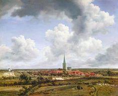 Vue de Ootmarsum de Jacob Isaakszoon Van Ruisdael (Ruysdael) (1628-1682, Netherlands)