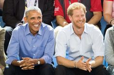 Barack Obama and Prince Harry - Samir Hussein/WireImage/Getty Images