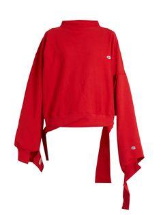 X Champion oversized cotton-blend sweatshirt | Vetements | MATCHESFASHION.COM UK