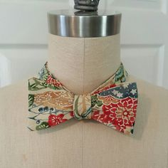 Check out this item in my Etsy shop https://www.etsy.com/listing/288570775/silk-self-tie-bow-tie-vintage-japanese