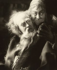 Gösta Ekman and Emil Jannings in Faust directed by F.W. Murnau, 1926