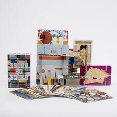 Eames House of Cards. Each card is slotted so it can be assembled into beautiful structures. $25