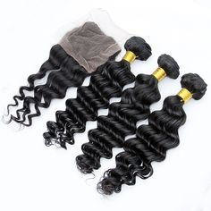 deep body wave human hair bundles with lace closure  www.ladayhair.com whatsapp +86-15053283923