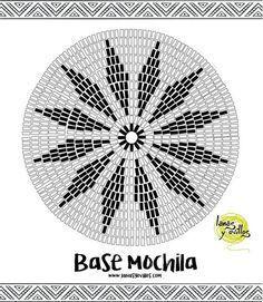 esquema mochila wayuu tapestry crochet base gratis