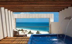 Cant wait for THIS in just 2 weeks.... honeymoon here we come- two story suite with private balcony spa!   Excellence Resorts Playa Mujeres, Suites