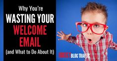 Most bloggers totally waste their welcome email - the message that gets sent to new subscribers. Here's how to avoid making the same mistake.