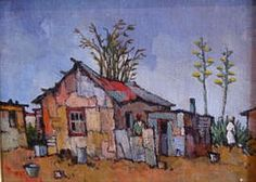 Artwork of Conrad Theys exhibited at Robertson Art Gallery. Original art of more than 60 top South African Artists - Since Building Painting, Building Art, Abstract Landscape, Landscape Paintings, House Painter, South African Artists, Africa Art, Naive Art, Painting Inspiration