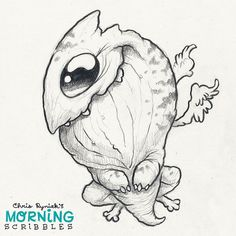 Winged thing! #morningscribbles