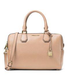 98eec0612253 Michael Kors Oyster Mercer Studio Pebbled Leather Duffle Bag