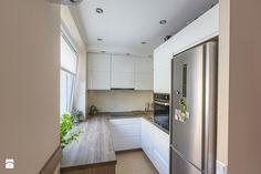 KOMPLEKSOWA REALIZACJA MIESZKANIA - Średnia otwarta wąska kuchnia w kształcie litery u, styl nowoczesny - zdjęcie od ATELIER