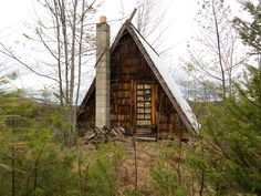 cabinporn:  Abandoned A-frame in Bethel, Maine foundwhile hunting for fishing holes. Contributed byJoshua Langlais.