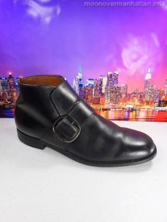 Mens shoes STRIDE RITE Monk Strap Buckle VTG HIPSTER Beatles ankle boot sz 7.5 M #StrideRite #AnkleBoots