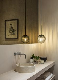 Nathalie Priem Photography  Elegant and contemporary bathroom/ cloakroom in Notting Hill development. Designed by Echlin.