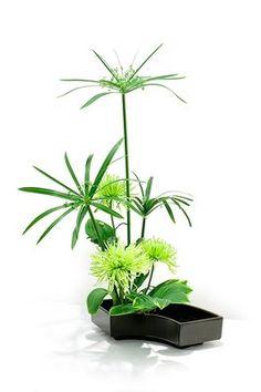 Another green ikebana arrangement...lovely