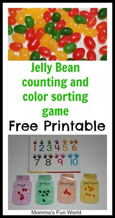 Counting and color matching learning game with free printable