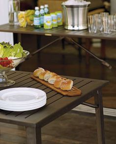 Make outdoor entertaining a breeze with the handsome Folding Buffet Table; a durable entertaining essential that easily folds and stores for quick setup and clean up