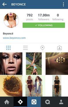 Beyoncé Has Over 17 Million Followers On Her  Instagram Account  11.09.2014