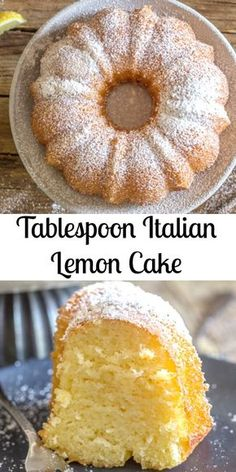 Italian Lemon Cake a delicious moist Cake, and all you need is a tablespoon for measurement. Fast and Easy and so good. The perfect Breakfast, Snack or Dessert Cake Recipe. #cake #lemoncake #Italiancake #Italianlemoncake #dessert #breakfast #snack #sweets via @https://it.pinterest.com/Italianinkitchn/