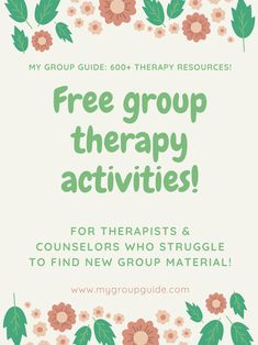 My Group Guide- Learn More About Our Therapy Resources