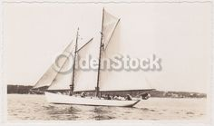 Early American Boating Wind Sailing Ship Vintage 1930s Snapshot Photograph