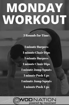 Monday Workout, Wod Workout, Workout Guide, Girl Workout, Workout Motivation, Crossfit Workouts At Home, Workout Template, Workout Plan For Beginners, Crossfit Workouts For Beginners