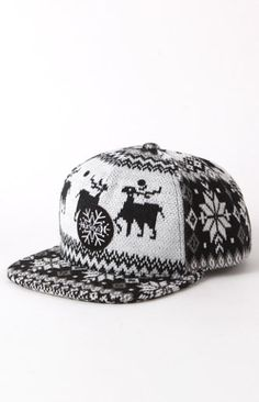 Holiday Sweater Snapback Hat. Happy Holidays!