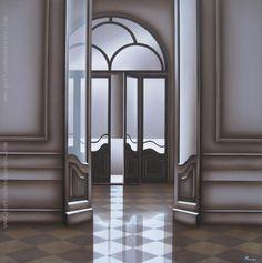 """Enrique Medina """"Puerta VIII"""" Acrílico sobre fibra  80 x 80 cm. Firmado abajo a la derecha  http://www.portondesanpedro.com/ver-producto.php?id=12525"""