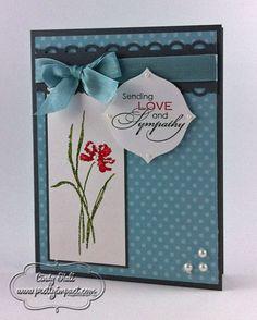 """Love-&-Sympathy-Card **** SU """"Love & Sympathy"""" -- love the color combination."""