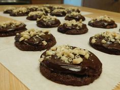 Chocolate Peanut Butter Chip Cookies  with Chocolate Peanut Butter Ganache…