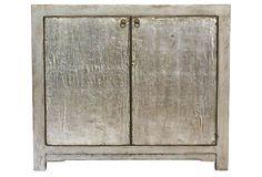 Kimberly Low Cabinet, Silver on OneKingsLane.com
