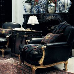 Ralph Lauren Home Noble Estate Room Scene Classic Interior, Home Interior, Modern Interior, Interior Decorating, Interior Design, Ralph Lauren Home Living Room, Home And Living, Br House, Paolo Nutini